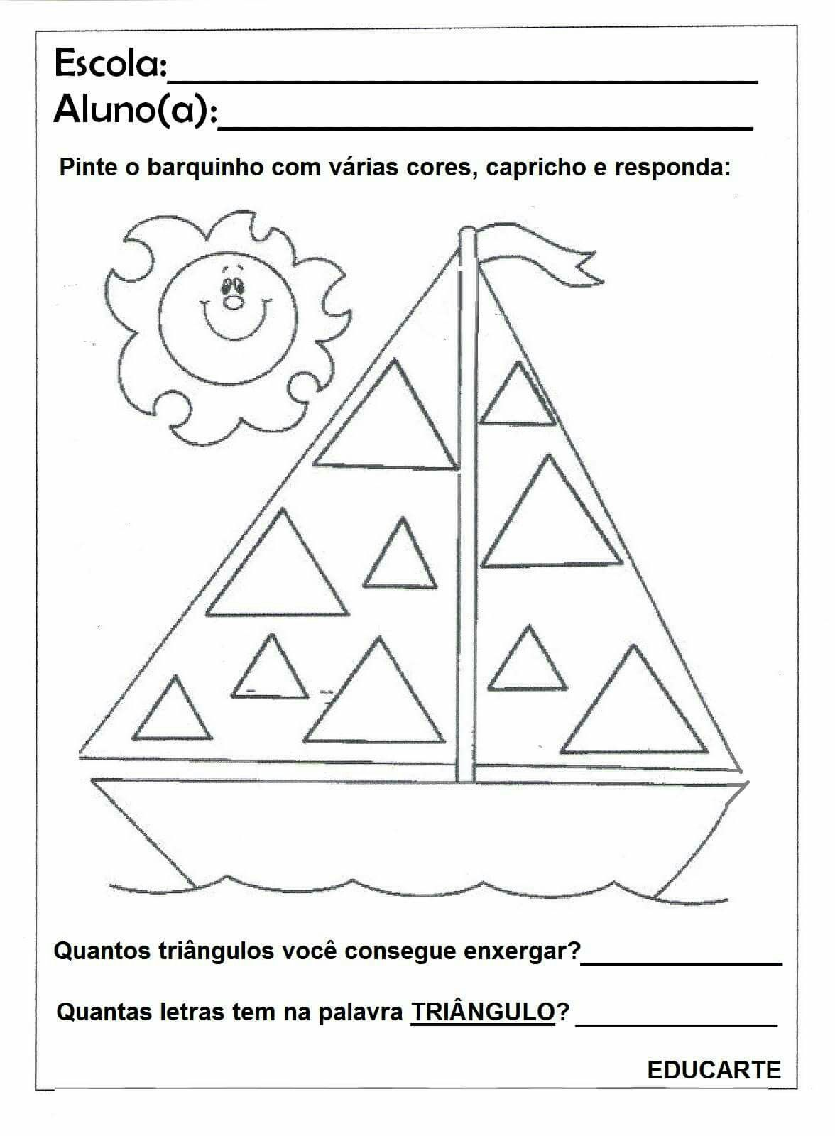 Imagem De Desenhos Com Figuras Geometricas Por Gabi Solano