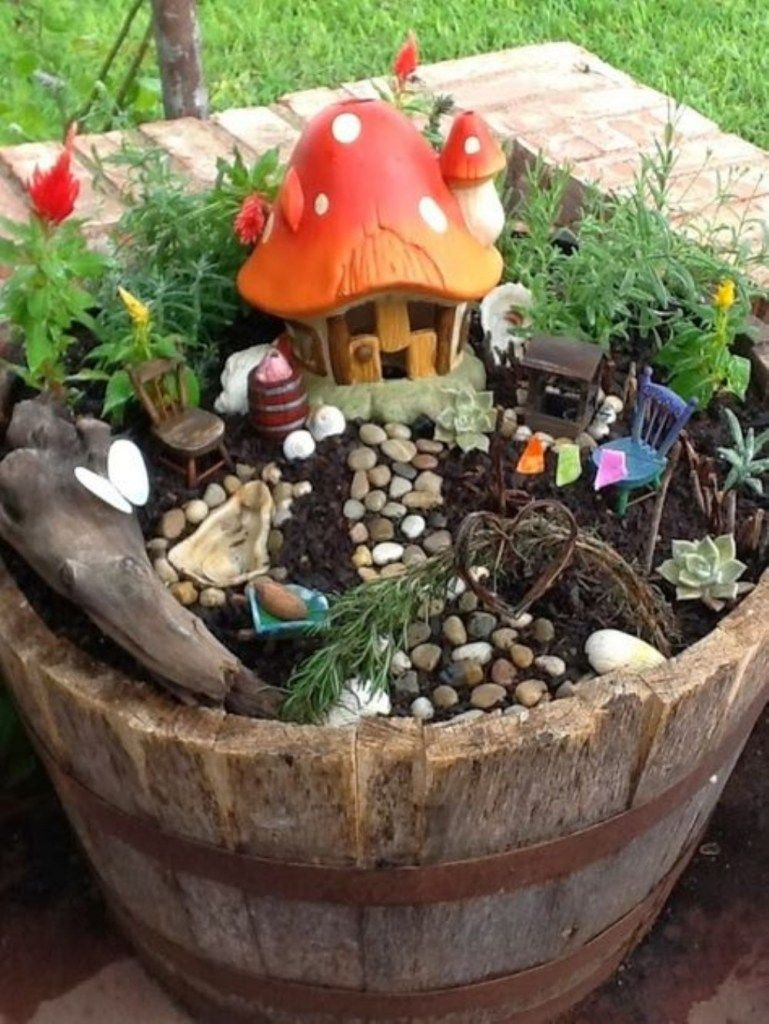 Diy garden ideas pinterest  Adorable diy fairy gardens ideas   Fairy Garden Ideas