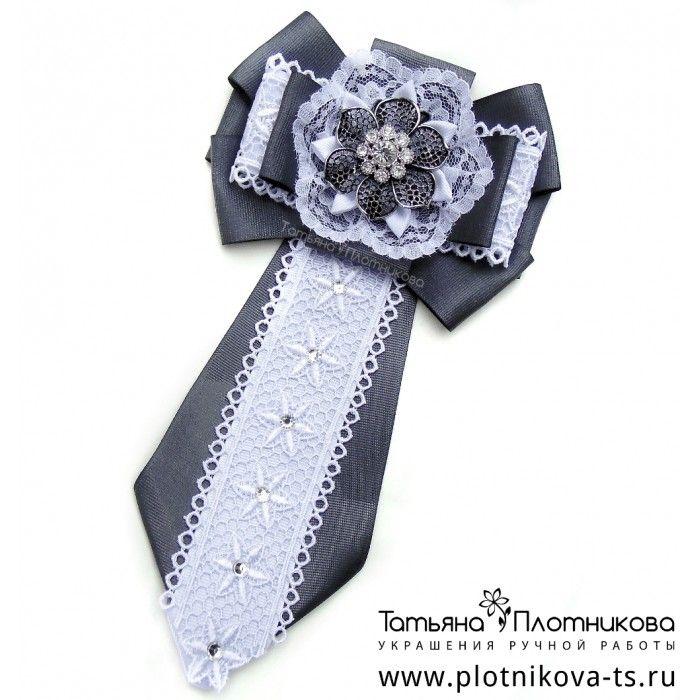 фото галстук брошь