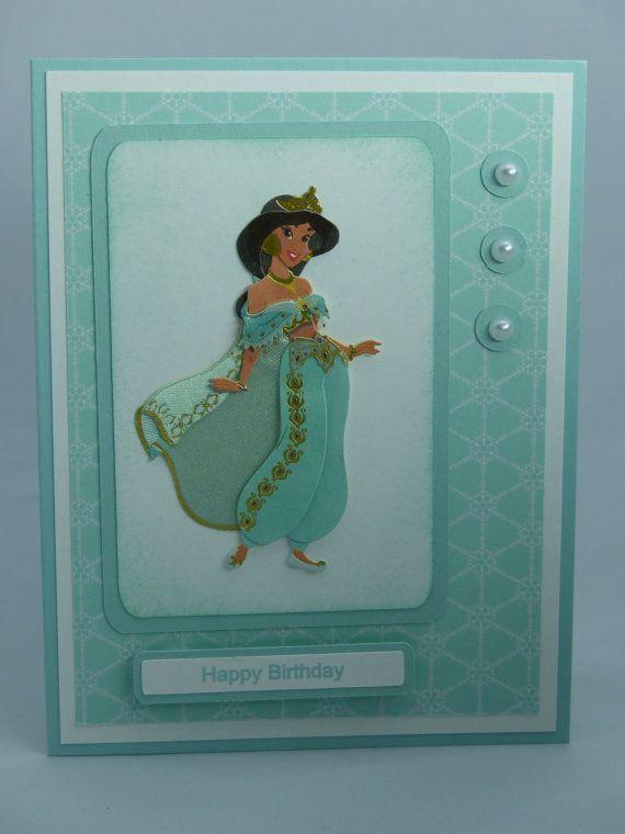 Stampin Up Handmade Greeting Card Disney Princess Jasmine – Princess Jasmine Birthday Card