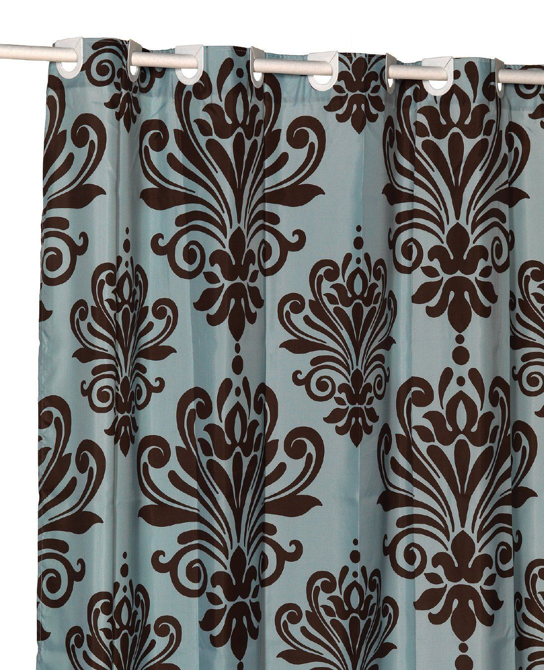 Blue And Brown Curtains Cheap Sale Blue And Brown Curtains Hookless Shower Curtain Curtains