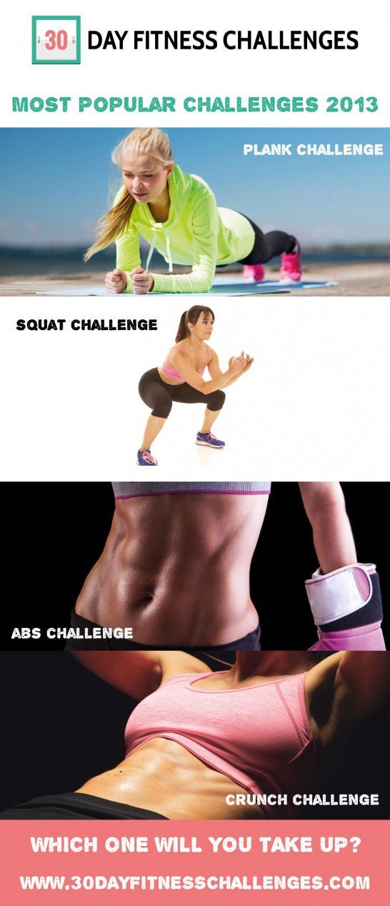 Our most popular 30 day fitness challenges from 2013  The 30 day squat challenge...,  #30dayplank #c...