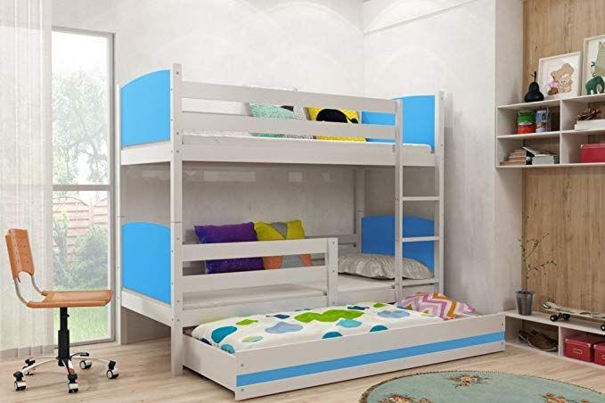 Etagenbett Kind Und Baby : Etagenbett tami 3 für drei kinder farbe: weiβ 200x90cm mit