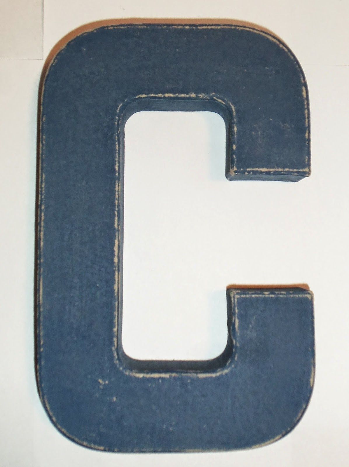 Distressed Paper Mache Letter Paper Mache Letters Wooden Letter Crafts Cardboard Painting