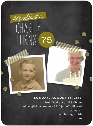 75th Birthday Invitations 75th Birthday Party Ideas
