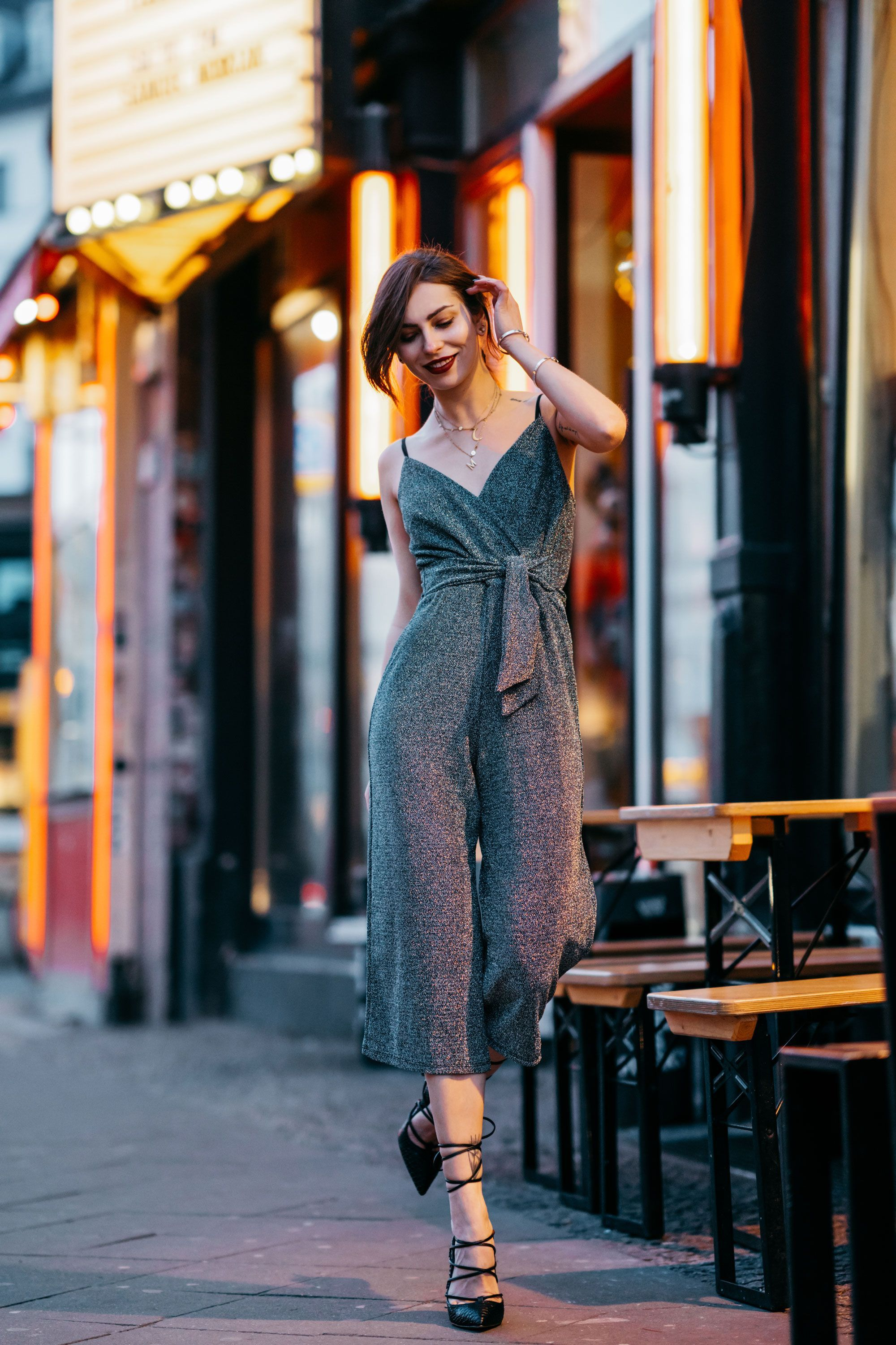 4cd3f825a25 Shop the Look! Do you like my party style   lurex  jumpsuit  ootd   streetstyle  partystyle  werbung  women kleid dress