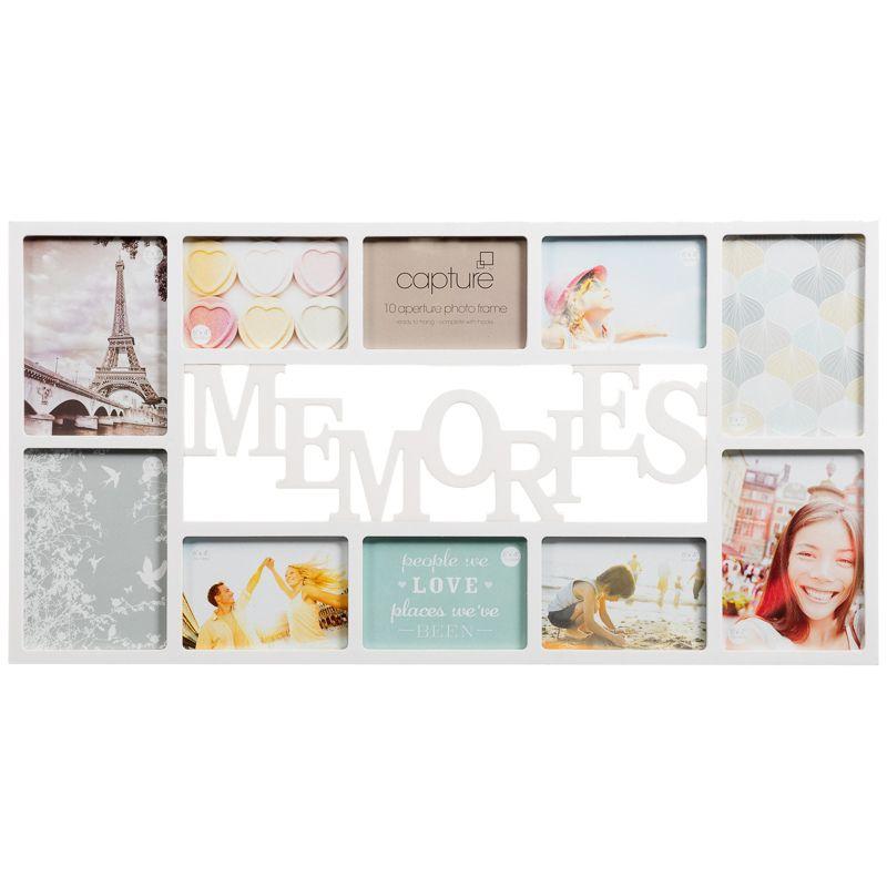 Memories Multi Aperture Photo Frame 10pc | Aperture, Bedroom ...