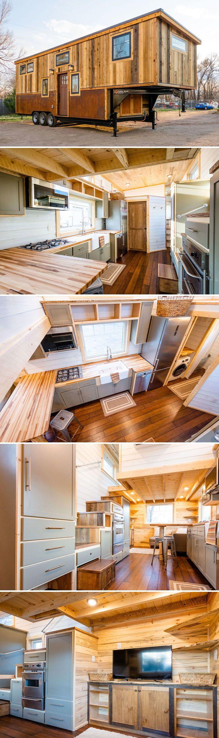 Ross' 35' Gooseneck Tiny House by Mitchcraft Tiny Homes #tinyhome