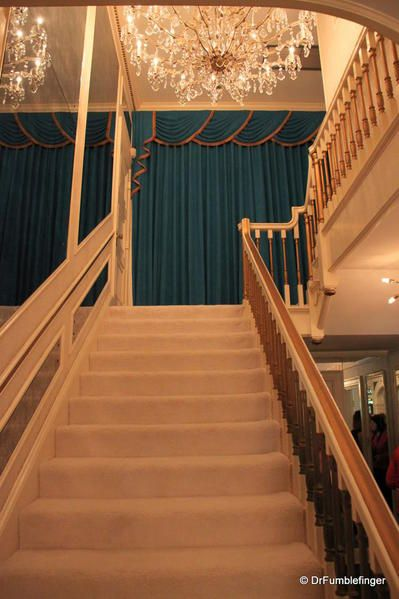 Graceland, Memphis. Stairs leading upstairs