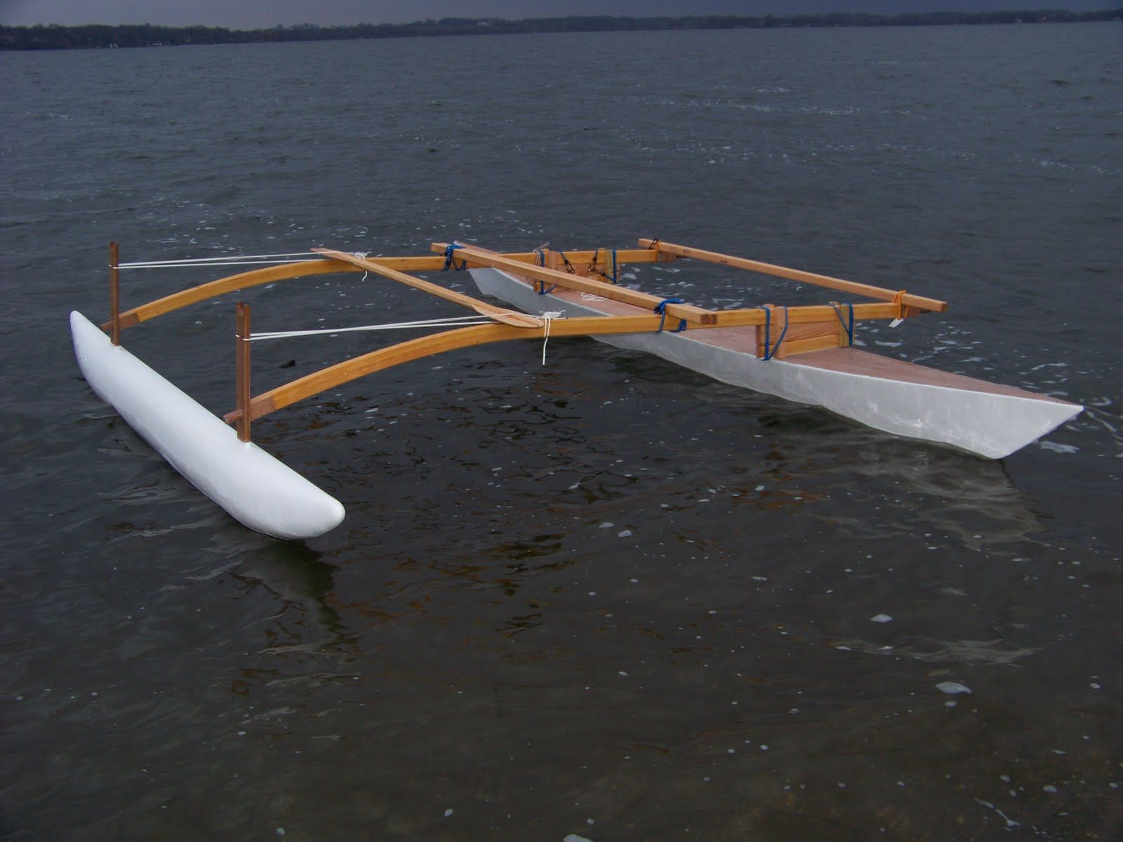 Doug Weir's Proa Project for Paddling Sailing and Marine Adventure: LAUNCH DAY FOR MY OUTRI ...