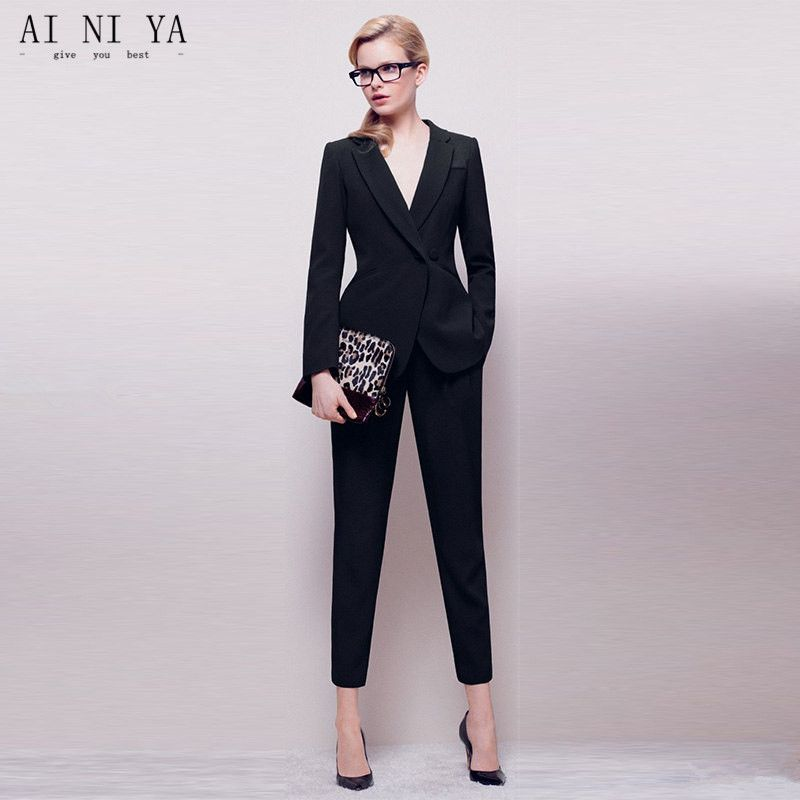 Black And White Pant Suits For Ladies