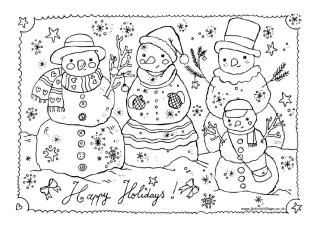Kerst Sneeuwpoppen Kleurplaat Christmas Pinterest Christmas