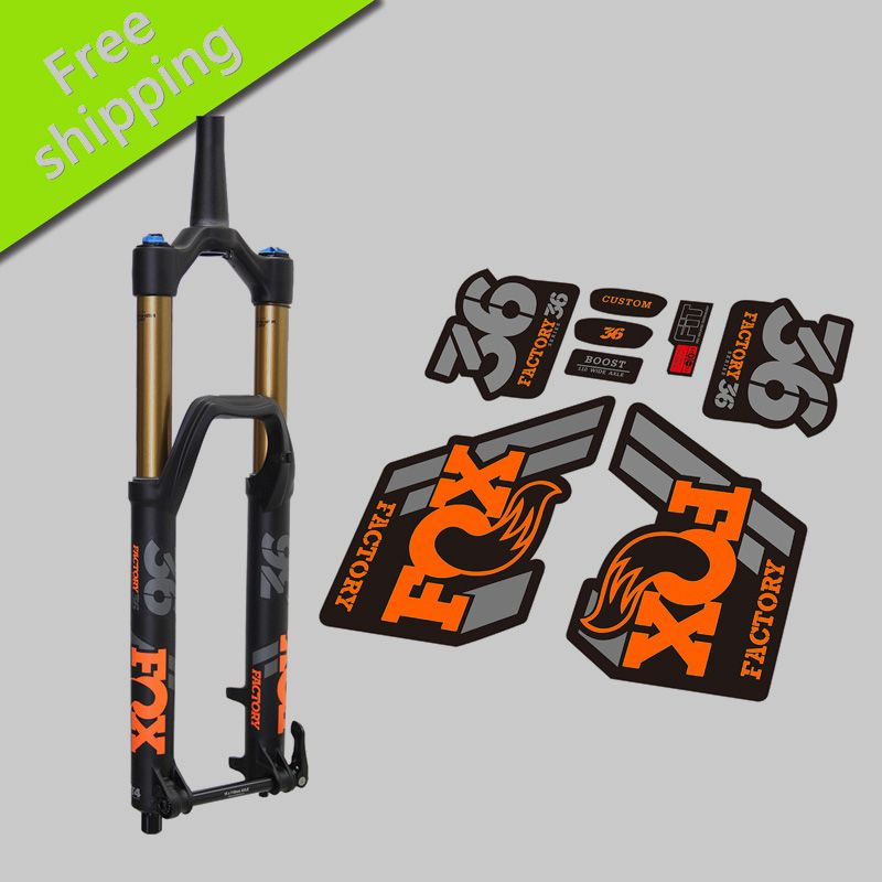 2018 2019 Fox Factory 36 Fork Stickers For Mountain Bike Bicycle Fox 36 Front Fork Replacment Race Dirt Decals Bicycle Bike Mtb Bike Mountain Bike
