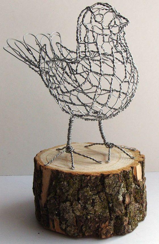 Ruth jensen wire sculpture try handmade 3 doodler for Chicken wire sculptures uk