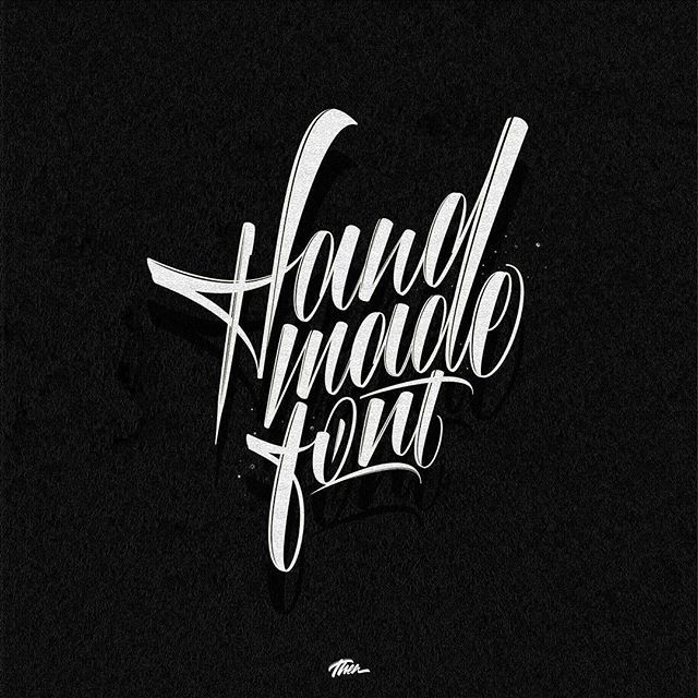 Hand made font by @deathea__ - typography & lettering design love ❤️ - typostrate - typostrate.com