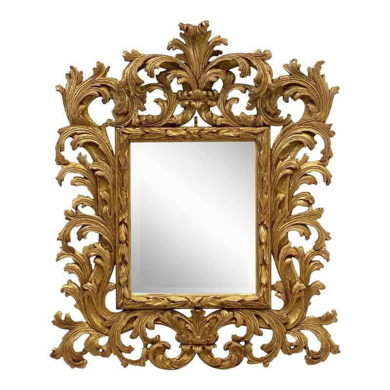 English Rococo Beveled Mirror With Carved Giltwood Frame In 2020 Beveled Mirror Mirror Wall Rococo Style