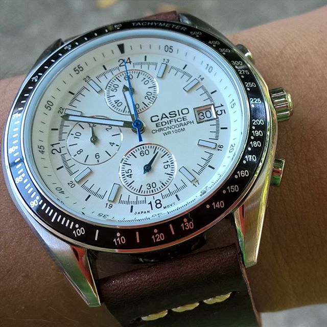 bcd5411a0 Casio Edifice EF 503 DW TimeMaster #casio #edfice #casioedifice #watch # chronograph #leather #brown #strap #blue #shotonmylumia #lumia830 #classic