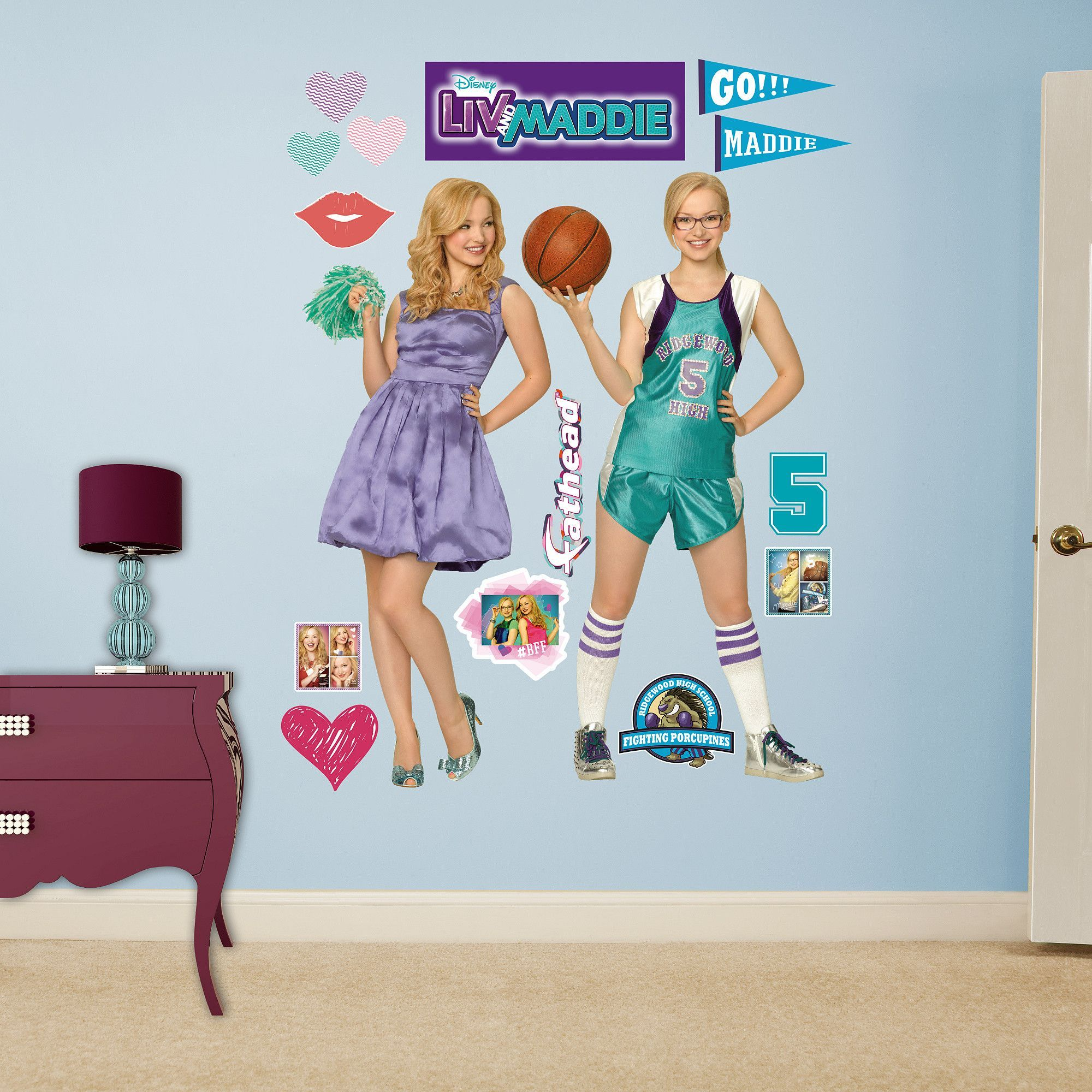 Printable coloring pages liv and maddie - Disney Liv And Maddie Peel And Stick Wall Decal