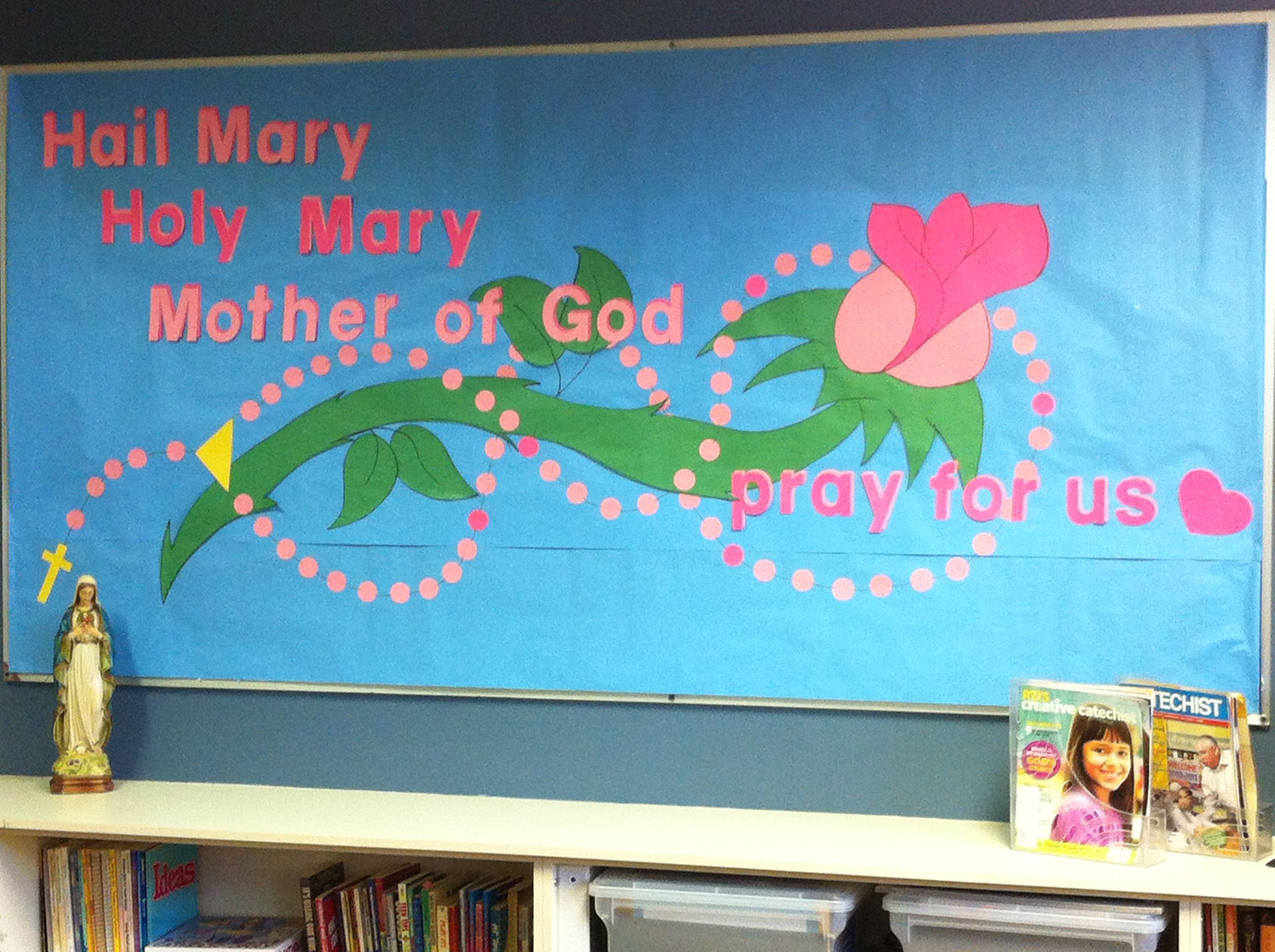 This is the October 2013 Rosary bulletin board in our St. Stephen ...