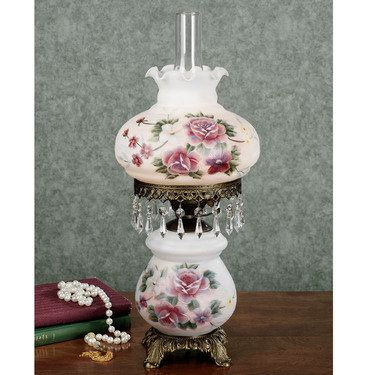 Beatrice Floral Hurricane Table Lamp Hurricane Lamps Table Lamp Victorian Lamps