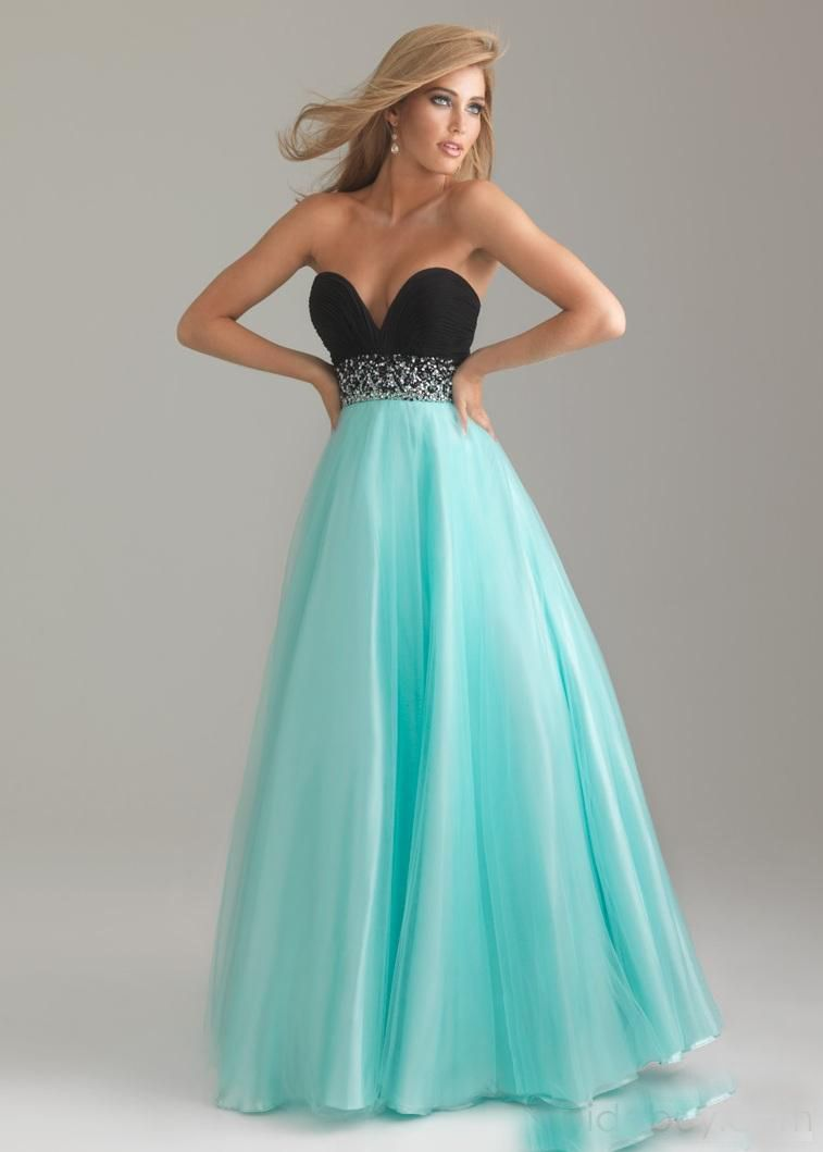 turquoise and black evening dresses | ... beaded waist organza and ...