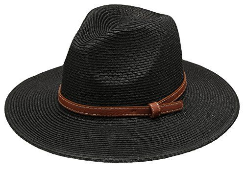 63122814f88 Manchester City F.C. Women s Braid Straw Wide Brim Fedora Hat UPF 50  w Adjustable Drawstring