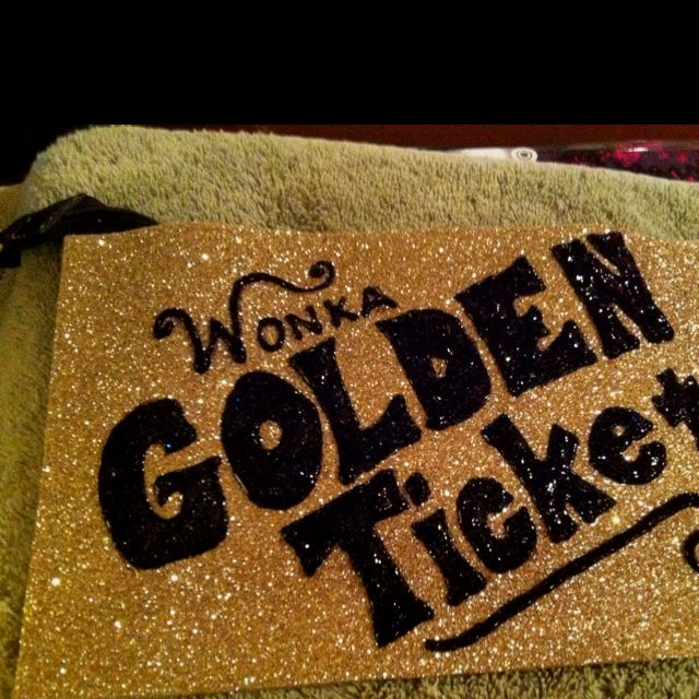 golden ticket clutch for my veruca salt costume stephs
