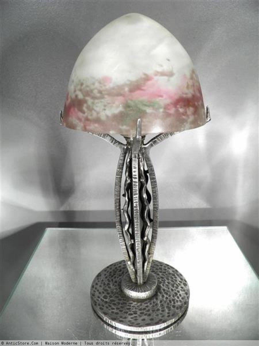 191020 muller frères lampeveilleuse miniature en fer forgé et pâte de