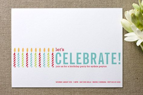 Colorful candles birthday party invitations stick it in the mail colorful candles birthday party invitations filmwisefo