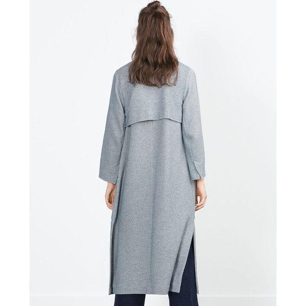 LONG COAT - Coats - WOMAN | ZARA United Kingdom (£5.99) via Polyvore