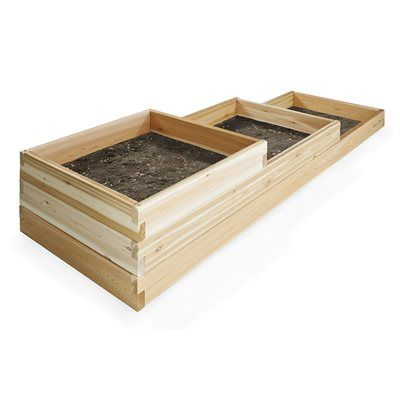 All Things Cedar Pots U0026 Planter RGT15 6 Ft Tiered Garden Box