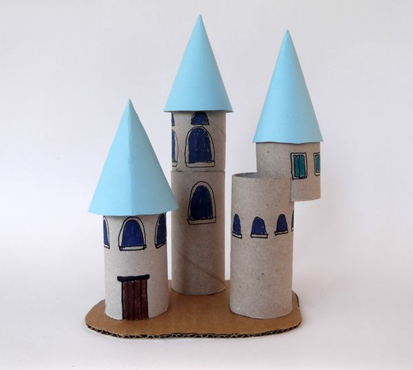 Princess palace with toilet paper roll Toilet paper
