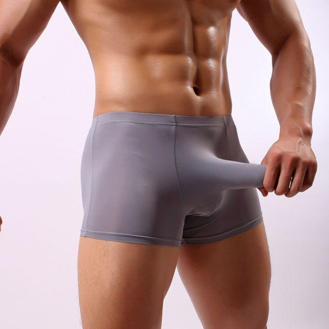 271efe2ff02de Men's Ice Silk Underwear Pouch Elephant Nose U Convex Boxers Shorts Well  C0514