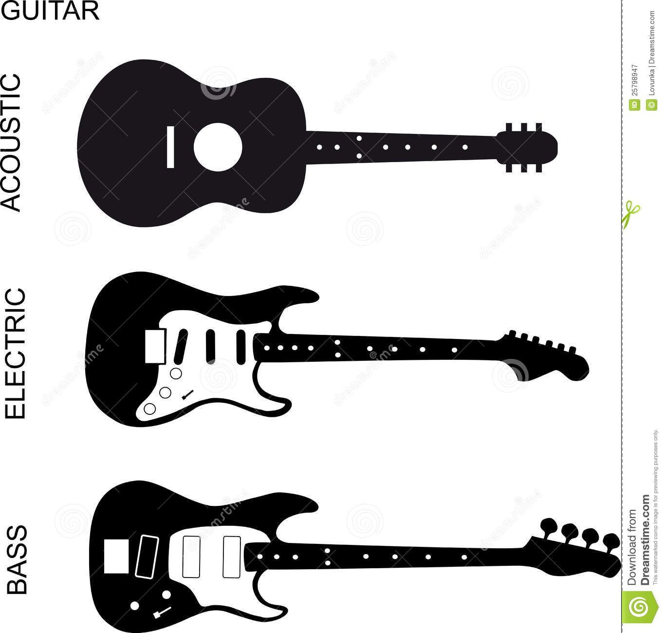 Guitare Clipart guitar clipart black and white - google search | music | guitar