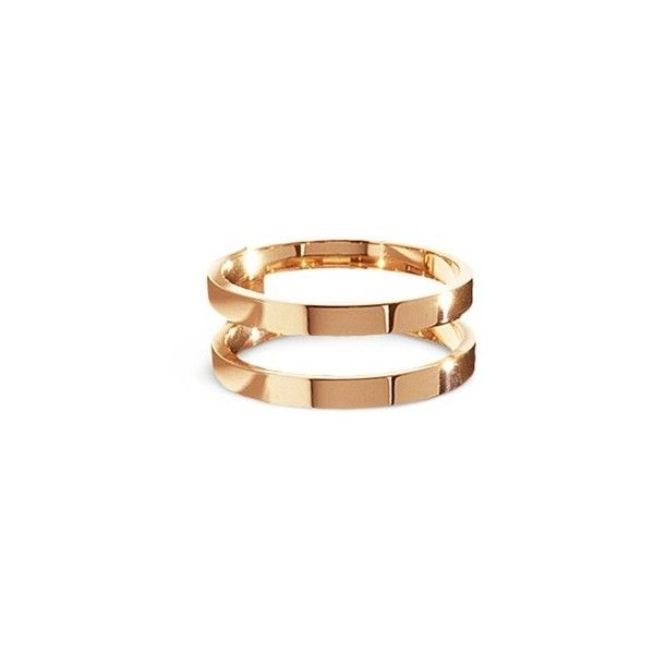 Repossi Berbre 18k rose gold two row ring 2000 PAB liked