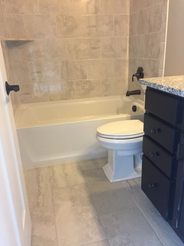 Exquisite, Ivory, 12x24 Tile, Installed Brick joint on ...