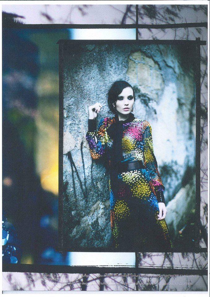 ROMA ALTA MODA MAGAZINE DRESS MULTICOLOR MICHELE MIGLIONICO HAUTE COUTURE Mariane Fassarella for Roma Alta Moda magazine, ph. ioulex