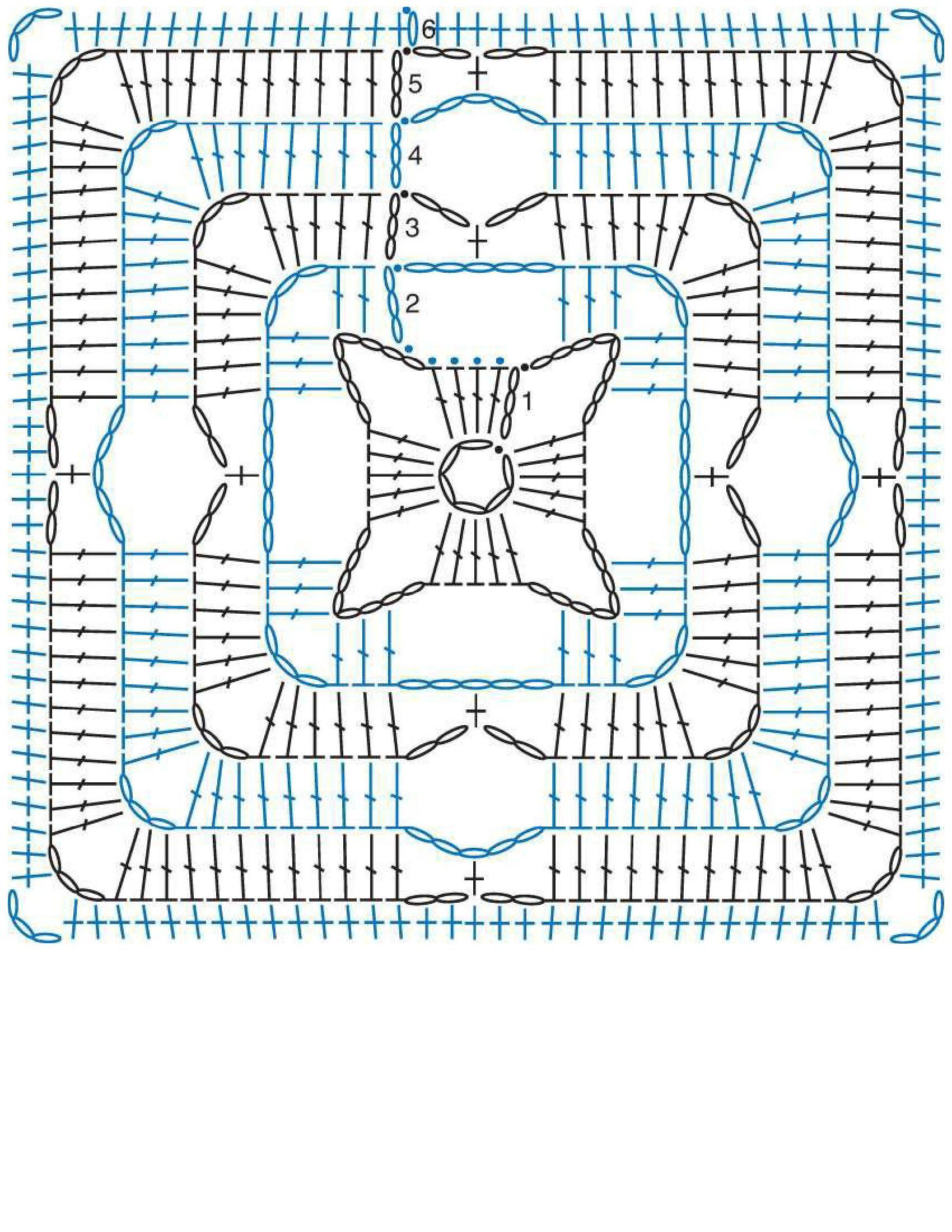 square unit crochet pattern | crochet-granny | Pinterest | Ganchillo ...