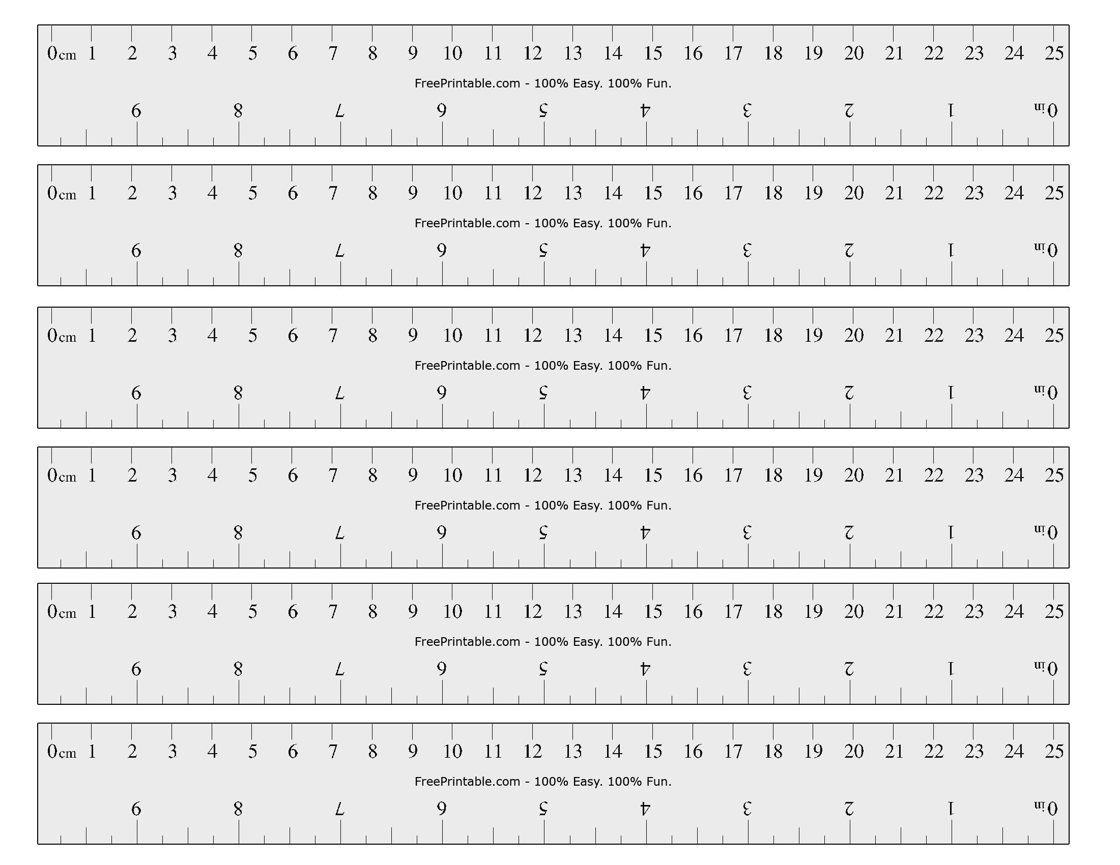 Free Printable Cm Inch Ruler