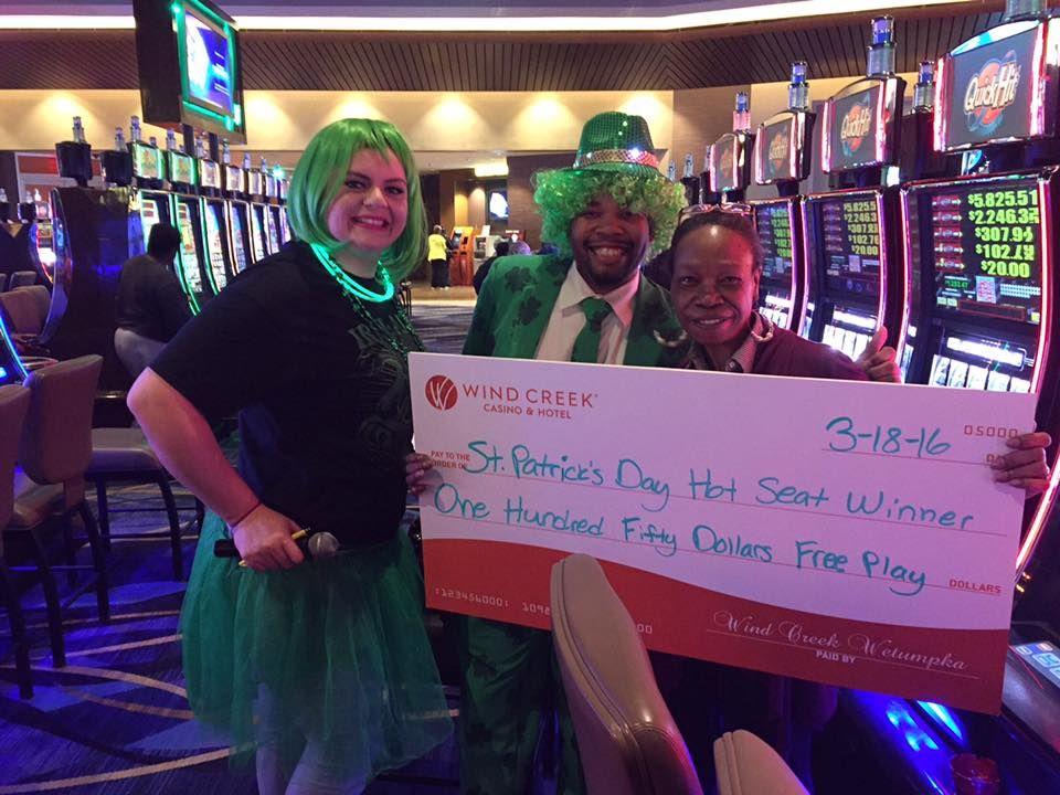 St. Patrick's Day Hot Seat winner!! WindCreekWetumpka