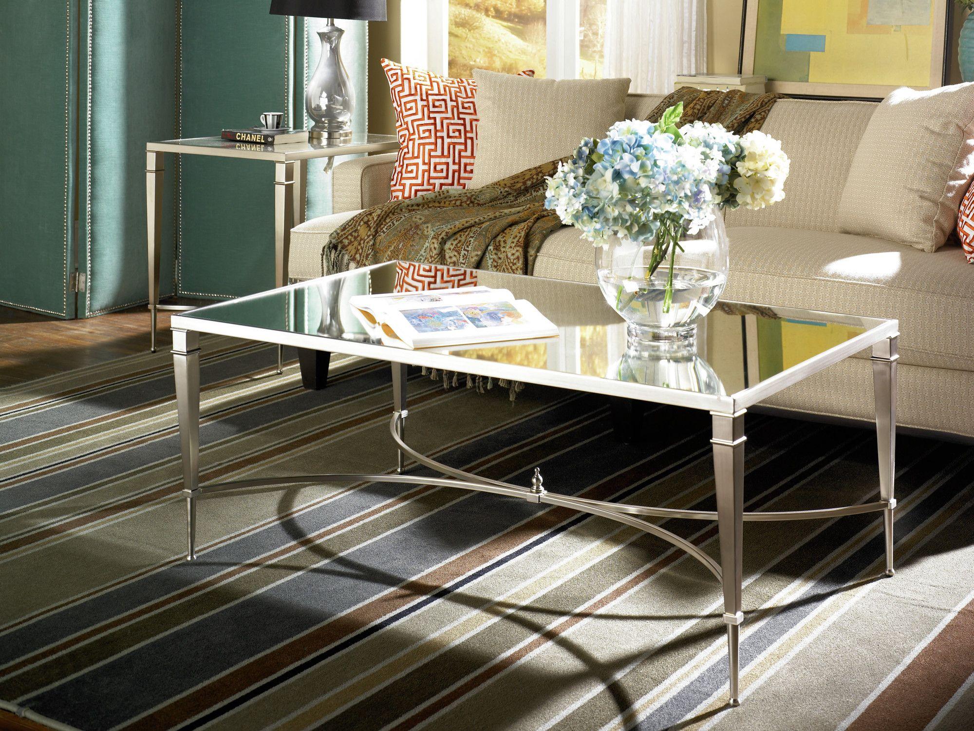hammary mallory coffee table & reviews | wayfair mirrored table
