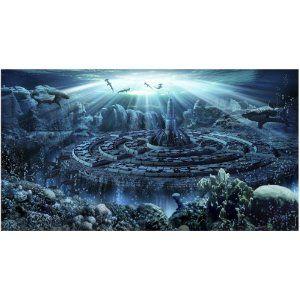 Atlantis Background With Gel Aquarium Backgrounds Atlantis Background