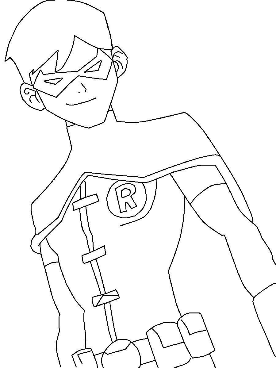 Young Justice Nightwing Drawings Young Justice Robin Coloring