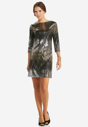 0e5bb4beba4 Cato Fashions Mixed Sequin Sheath Dress  CatoFashions. Cato Fashions Mixed  Sequin Sheath Dress-Plus ...