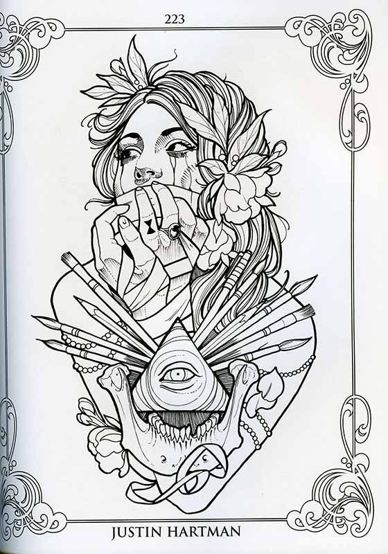 The Coloring Book Project Vol 2 Tattoo Coloring Book Coloring Books Sketches