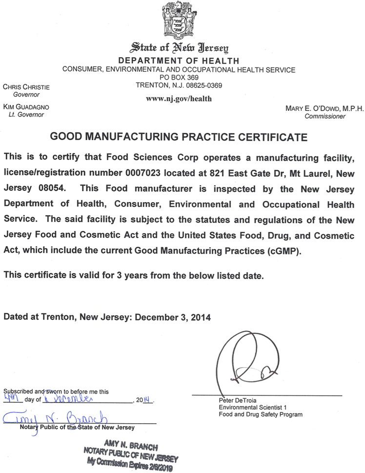 Good Manufacturing Practices Gmp Certification About Us