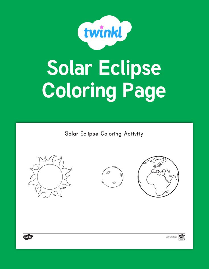 Solar Eclipse Coloring Activity This lovely coloring sheet features