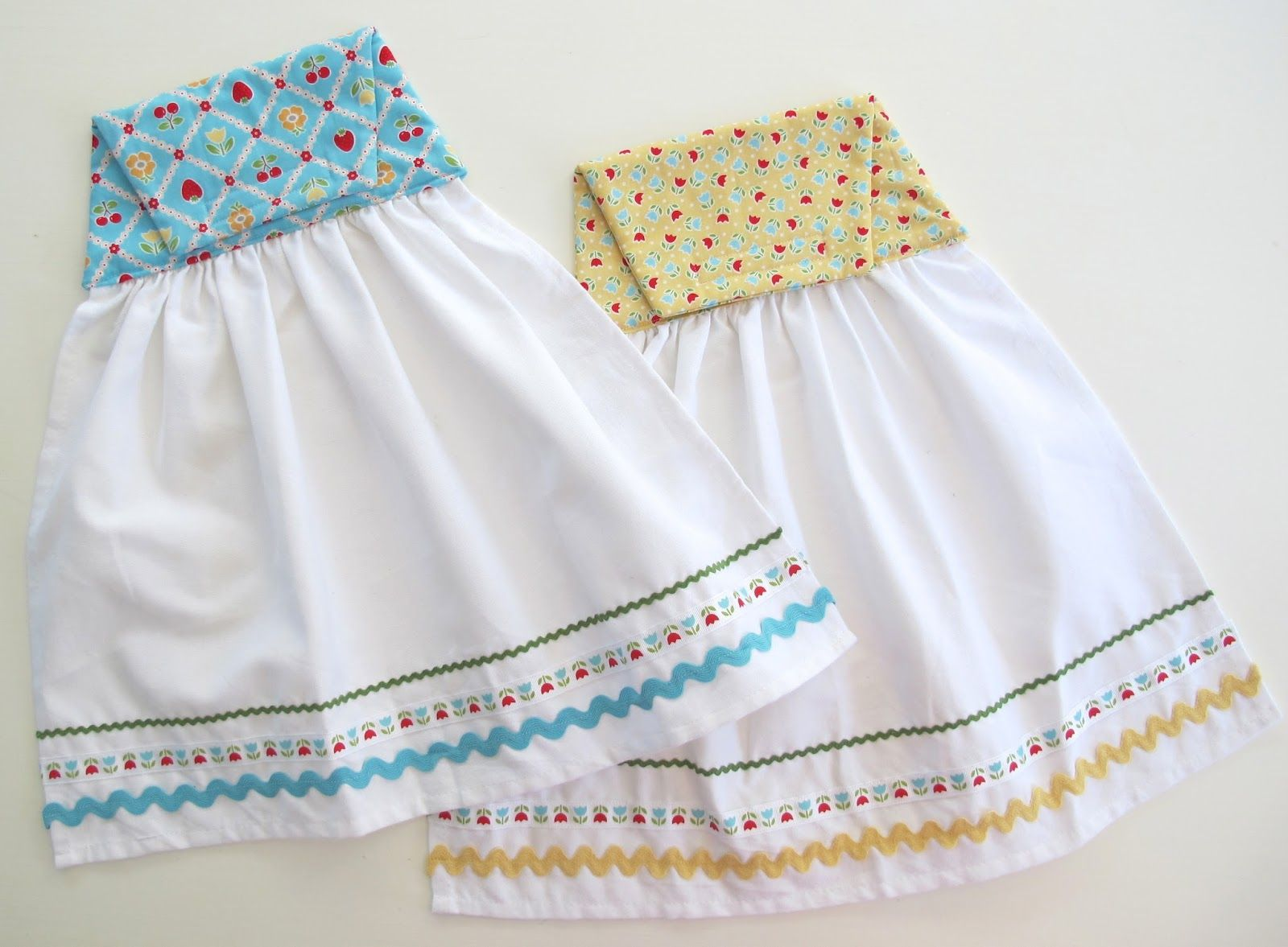 Cute Dish Towels, Use Velcro Or A Snap To Attach