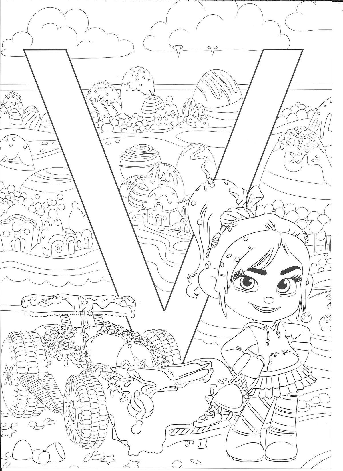 Pin by Mini on Alphabet Coloring Sheets | Disney coloring ...