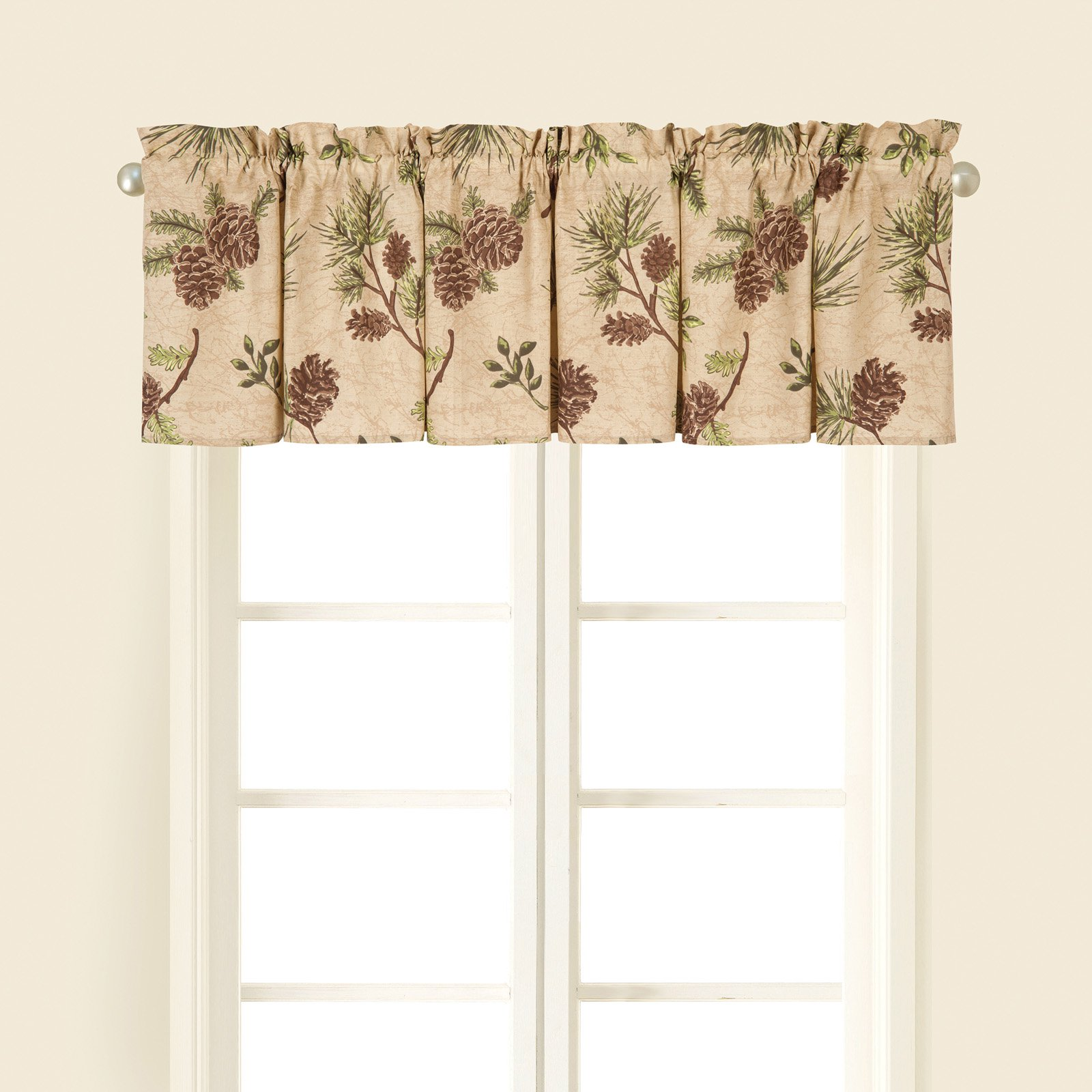 C F Home Woodland Retreat Tailored Valance Set Of 2 Valance Curtains Valances For Living Room Window Valance